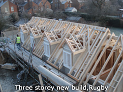 3 Storey new build, Rugby