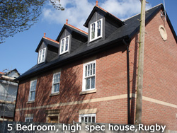 5 bedroom, high spec house Rugby